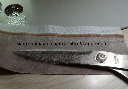 изготовление пояса для ламбрекена