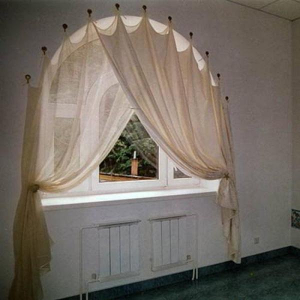 Как построить выкройку для шторы на арочное окно
