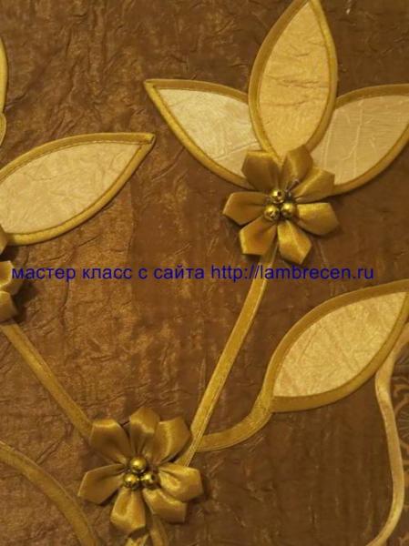 цветы из косой бейки