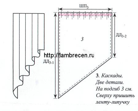 Как сшить галстук из штор 784