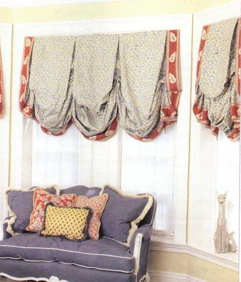 Как сшить лондонские шторы своими руками