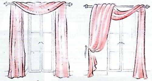 способы драпировки штор