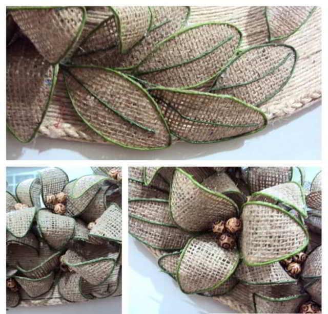 Изготовления гибких цветов из мешковины.