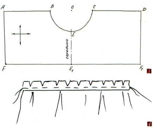 выкройка простого ламбрекеа