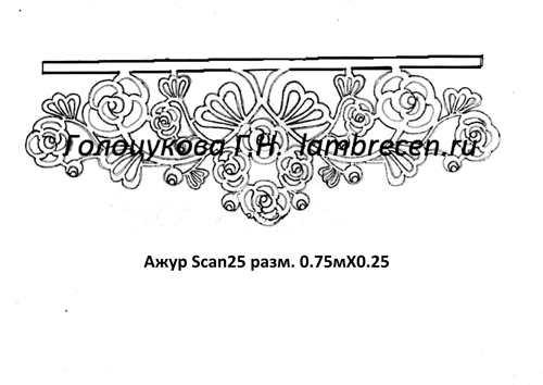 Ажур Scan25 разм. 0.75мХ0.25