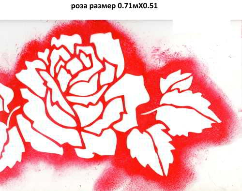 2. роза размер 0.71мХ0.51