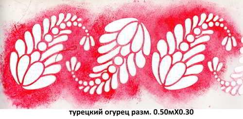3. турецкий огурец разм. 0.50мХ0.30