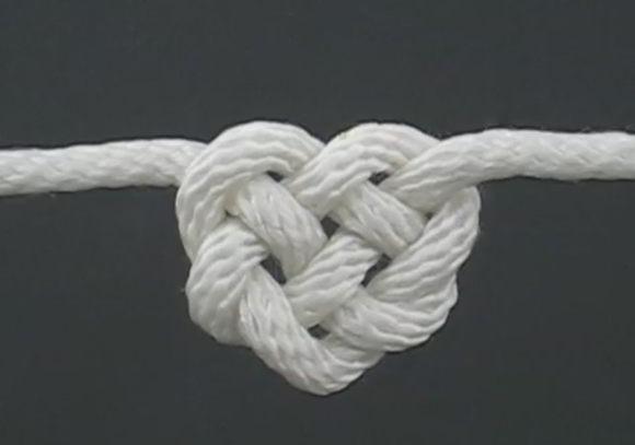 15 сердечный узел из веревки