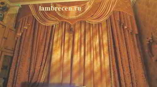 Комбинированный ламбрекен фото
