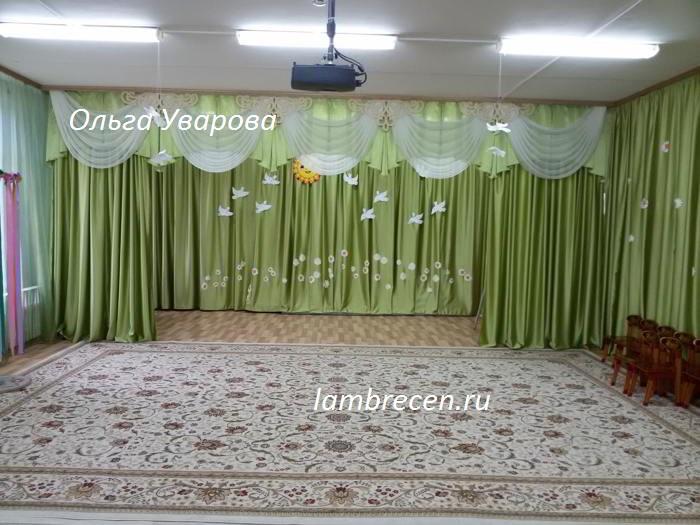 шторы и ламбрекен в детский сад фото-1