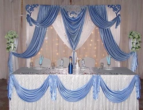 Оформление праздников тканью. Свадебный декор, арка, стол