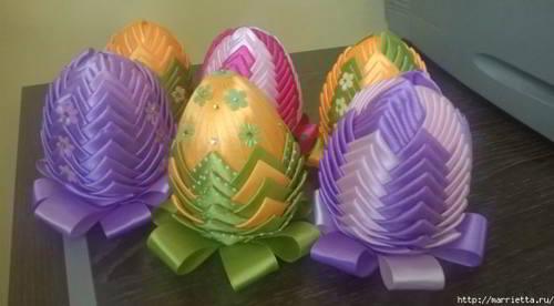 пасхальные яйца своими руками в технике артишок