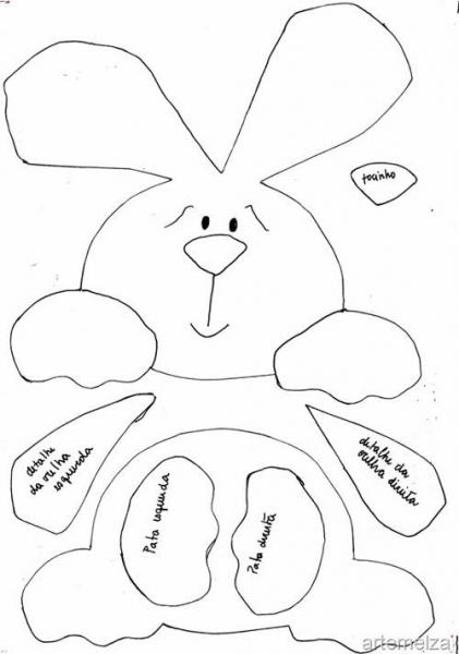 пасхальный кролик из фетра своими руками