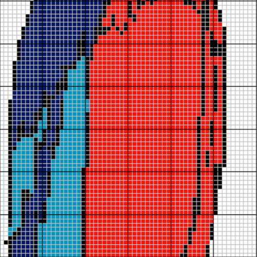 Схема шторы из бусин