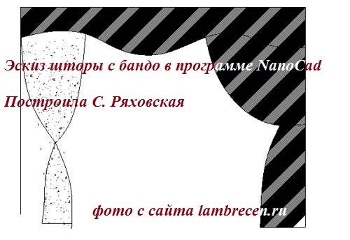 эскизы штор и ламбрекенов