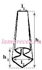 выкройка колокольчика элемента ламбрекена