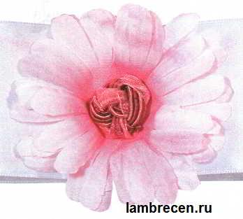 цветы из ткани, ромашка из ткани