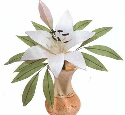 цветы из ткани, лилия из ткани