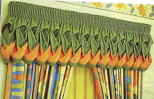 Урок 20:Шьем ламбрекен буфы-плетенка