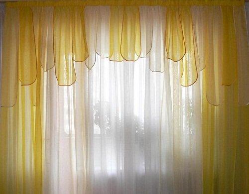 Ламбрекены своими руками из полосок ткани.