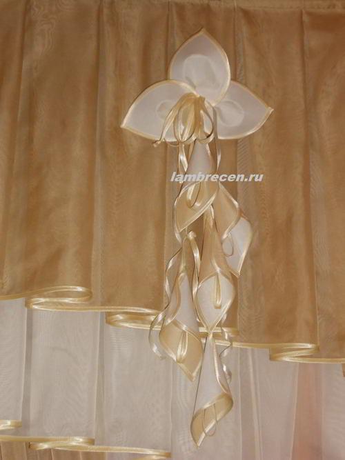 цветы из ткани для штор и ламбрекенов