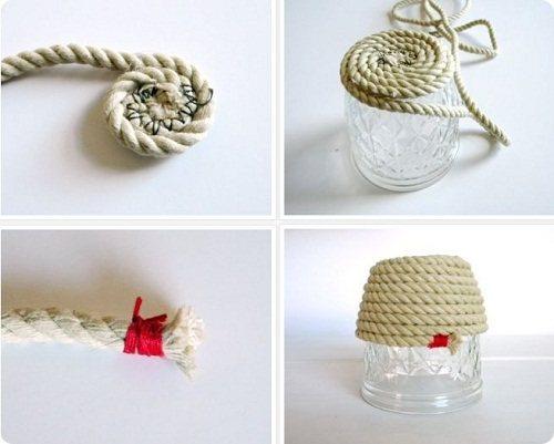 Коврики, панно и другие предметы быта из веревок.