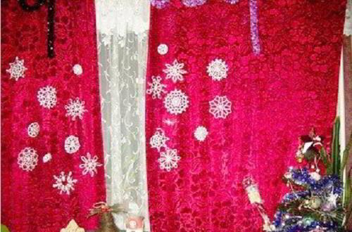 Снежинки своими руками - украсим окна к Новому Году.