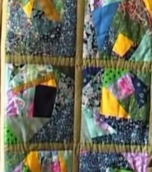 Техника крези квилт в домашнем текстиле.