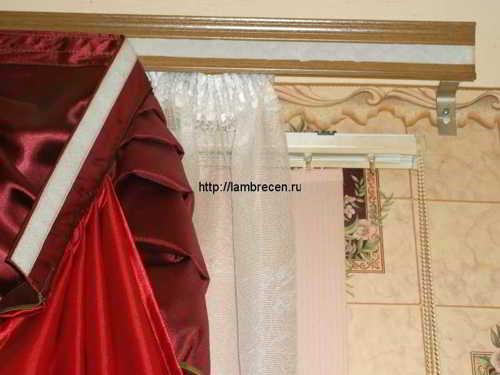 как повесить шторы на карниз