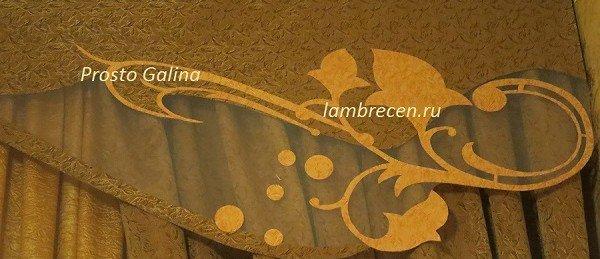 витражный ажурный ламбрекен