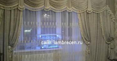 фото ламбрекена с вертикальным плечом