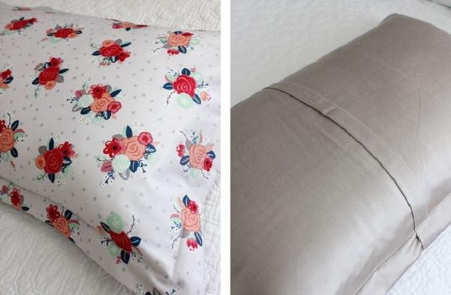 """Шьём чехол для подушки с элементами """"Оригами из ткани"""".МК."""