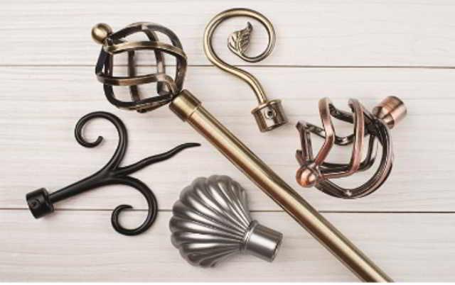 Как выбрать металлический или кованый карниз для штор